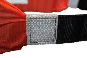 Picture of the I C Brindle Survivor strop SOLAS reflective tape on a white background