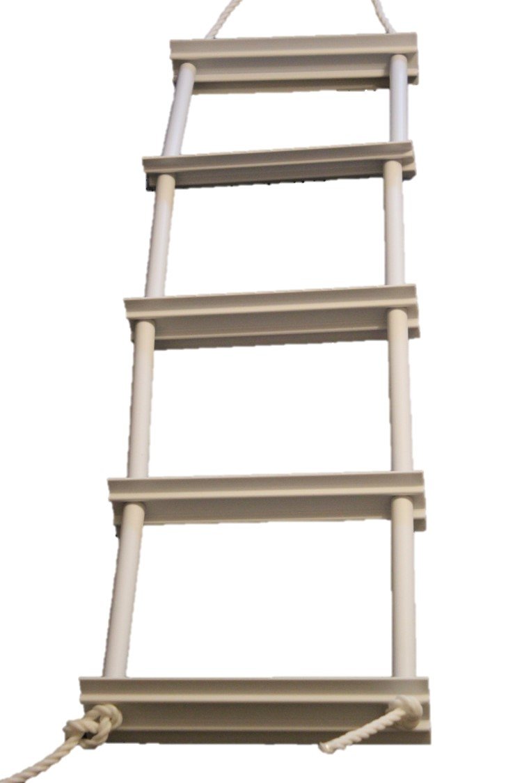 picture of 5 step emergency ladder from Force 4 Chandlery with no background