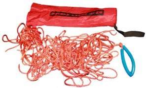 Picture of the Kim Safety Throwing line with everything taken out of the bag against a white background