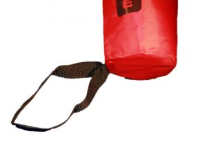Picture of the Kim Safety Throwing Line black loop and bottom of bag against a white background